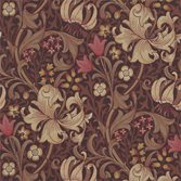 Morris & Co Golden Lily - Fig/Burnt Orange
