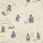 Jane Churchill London Paddington Vintage Red/Blue