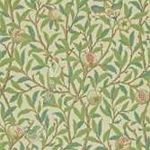 Morris & Co Bird and Pomegranate - Bayleaf/Cream