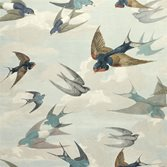 Designers Guild Chimney Swallows - Sky Blue