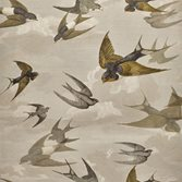 Designers Guild Chimney Swallows - Sepia